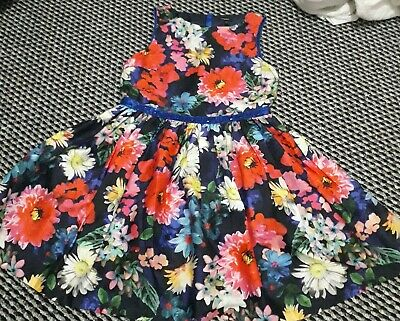 Girls Marks and Spencer Autograph FloralParty Dress Age 12-13