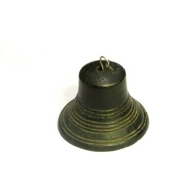 """Small Cast Iron Bell Made In Taiwan 2.25"""" Tall X 2.75"""" Across Rustic Shabby Chic"""