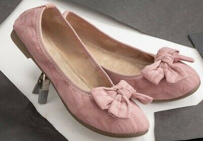 Victorian Trading Co Adelaide Pink w/ Bow Ballerina Flats size 6.5 32C