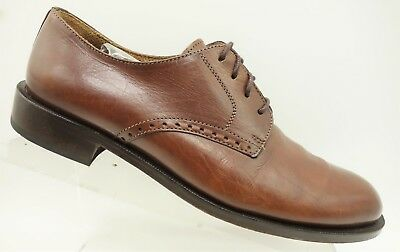 Vito Rufolo Italy Brown Leather Dress Lace Up Oxfords Shoes Men's 8.5