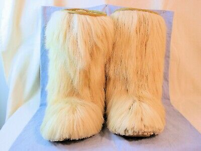 Vintage Goat Fur After Ski Boots – Roluc Ideal - Made In Italy