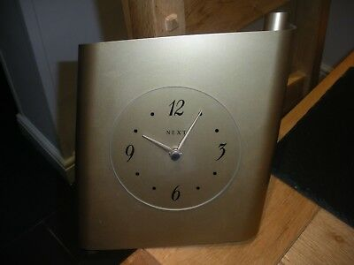 Gold Metal Wall Clock From Next