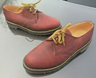 Dr Martens 1461 oxblood red leather shoes UK 10 EU 45 Made in England