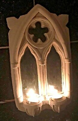 Latex Mould for making this Gothic rustic mirror/picture frame candle holder .