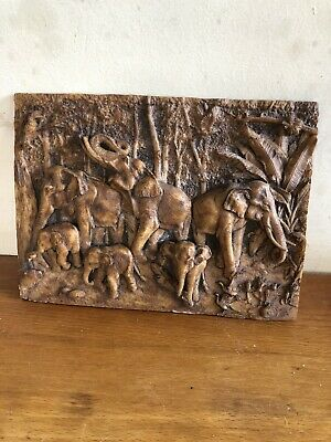 Latex Mould for making this Lovely Detailed 3D Elephant  Plaque