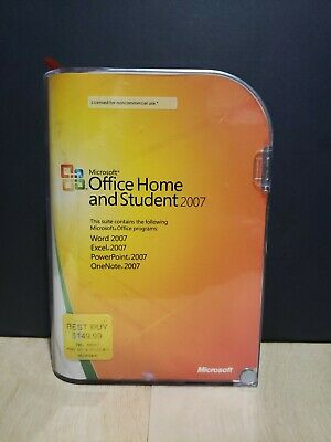 Microsoft Office Home and Student Edition 2007 Word Excel PowerPoint OneNote PC