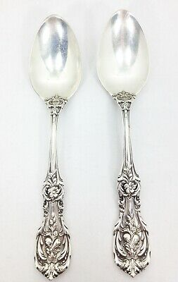 2 FRANCIS FIRST 1st Reed & Barton TEASPOON Spoon Sterling Silver Old Mark 5-7/8""