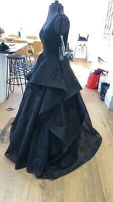 Sherri Hill Black Ball Gown Prom Dress Us 6 Uk 10