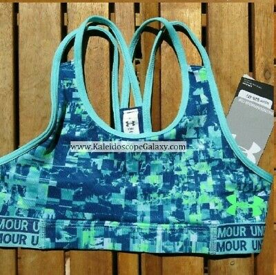 Under Armour Girls Small Sports Bras Green & Blue  Brand New W/ Tag