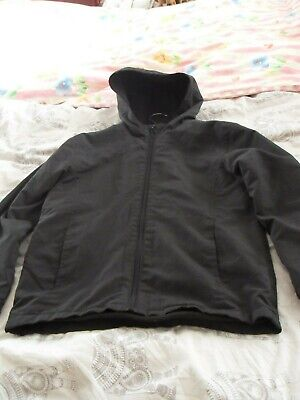 Girls raincoat. Winter Black Coat by George. age 10- 12 . hood. good condition