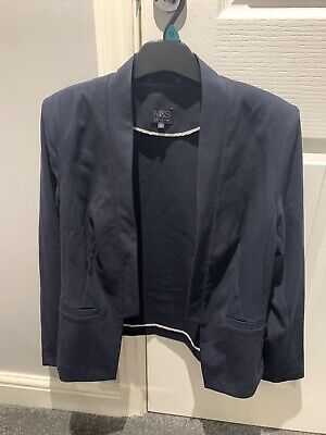 Womans Marks & Spencer Suit Jacket Size 10 Navy