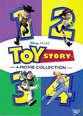 Toy Story 1-4 Complete Collection (6-Disc Set-DVD) 1, 2, 3, 4