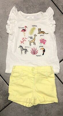 Next...Marks & Spencer Baby Girls Summer Outfit 9-12 M Animals Print