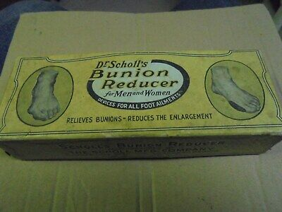 Vintage 1916 Scholl's Bunion Reducer in box with instructions