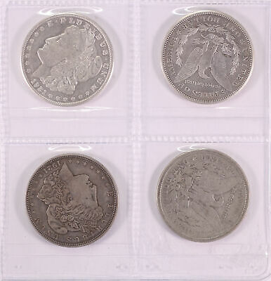 USA Morgan Dollar - 1921 (4 coins, Fine - VF) D12-64