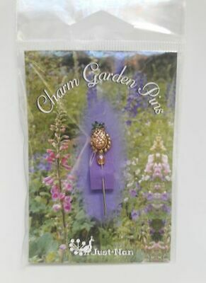Just Nan Charm Garden Pins Pineapple Pin New # CGPISP RARE!!!!
