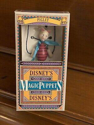 RARE Piglet - Winnie the Pooh Disney's Magic Puppet Walt Disney Company VGC NIB