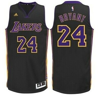 Kobe Bryant #24 Los Angeles Lakers Adidas Black w/ purple # Hollywood Jersey