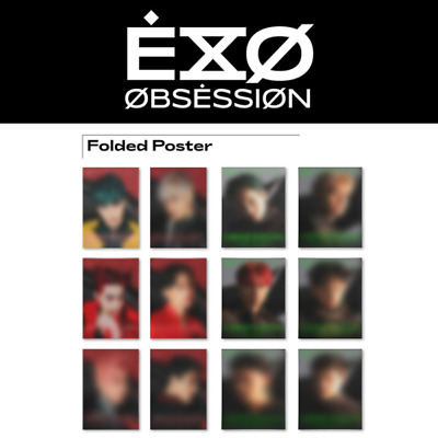 Exo - 6Th Album Obsession Folded Poster Chen Chanyeol Suho