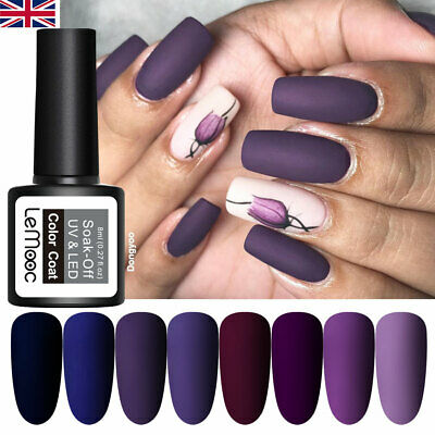 8ml LEMOOC Pure Glitter Nail Art Gel Polish Soak off UV Gel Color Salon UV LED
