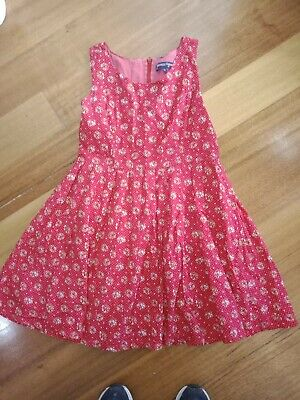 Dangerfield Size 14 Ladies Summer Cotton Dress Red Floral With White Polka Dots