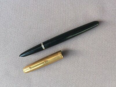 Vintage PARKER '51' Fountain PEN, 12 Ct Carat Rolled GOLD Cap, Made in ENGLAND