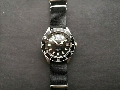 60s Citizen Watch Challenge Diver Early Model Vintage Military Navy Marine Seiko