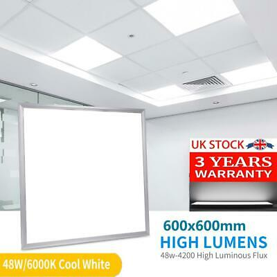 48W Ceiling Suspended Recessed LED Panel White Light Office Lighting 600x600mm