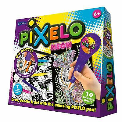PIXELO NEON art set with electronic pen - colouring gift toy kids girls boys 6+
