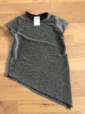 girls sliver sparkly christmas party top age 3years
