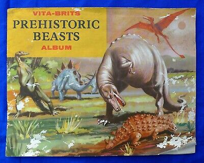 1960 Nabisco Vita-Brits Uncle Tobys Cards In Album; Prehistoric Beasts Set 34/34