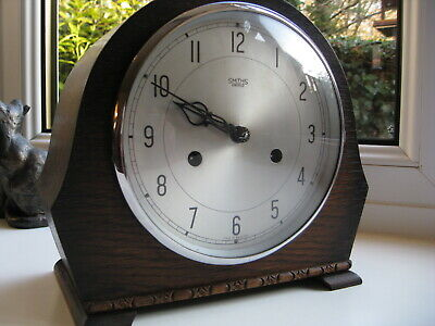 "Lovely Smiths Enfield striking mantle clock,""The Devon"", Fully working."