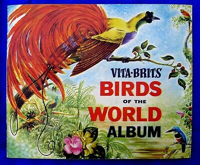 1960s NABISCO VITA-BRITS CARDS IN BOOKLET; BIRDS OF THE WORLD ALBUM 35 OUT OF 36