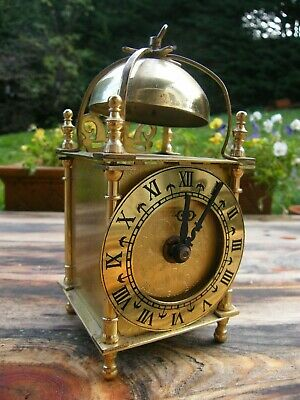A Vintage Smiths  Brass Lantern Clock For Spares Or Repairs