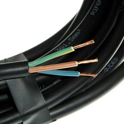 H07RN-F Tough Rubber Cable 1.5mm 2.5mm 3 Core Flex Outdoor Pond Lights Sockets