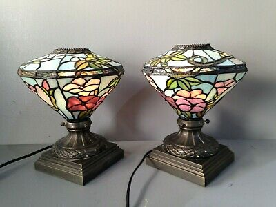 Pair of Art Nouveau/Tiffany Style Table Lamps (B8.5/12)