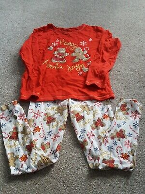 Girls MATALAN festive Christmas ginger bread couple  Pjs Pyjamas 9  years