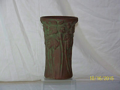 Antique Peters & Reed Moss Aztec Art Pottery Arts & Crafts Long Stem Vase