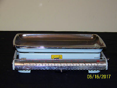 Gunda Made In Sweden c1950's Chrome Removable Tray Kitchen Scale