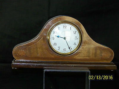 "Art Deco Bayard Duverdrey & Bloquel Inlaid Shelf Mantle Clock-""Works Great"""