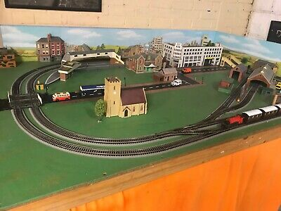 Model railway and village layout