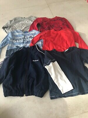 boys bundle 3-4, 5 long sleeved tops and reebox jacket- lovely condition