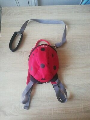 Littlelife Backpack Red Ladybird for toddler with detachable reins