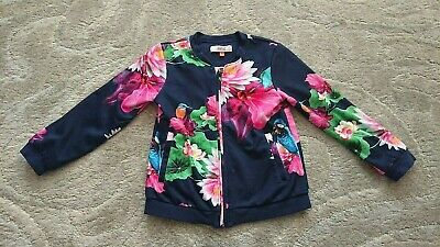 Ted Baker floral bomber jacket girls age 6-7 years *vgc*