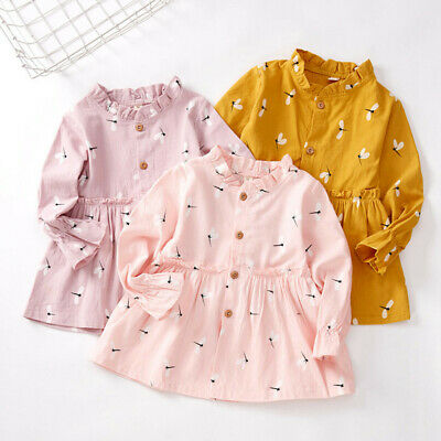 Toddler Kids Baby Girls Princess Dress Toddler Winter Long Sleeve Party Casual