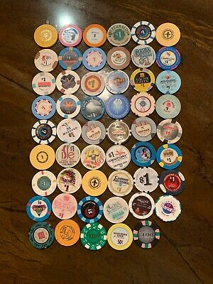 Lot of 53 Vintage Mixed Casino Chips