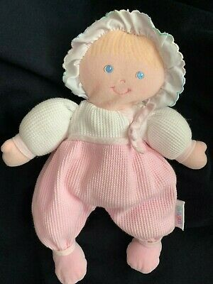 VINTAGE EDEN BLONDE BABY DOLL PINK THERMAL STUFFED PLUSH TOY SOFT Lovey