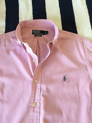 Mens Ralph Lauren Slim Fit Striped Shirt In XL