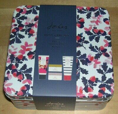 Joules - Body Care Set - In pretty tin- Contents: Body wash/lotion/butter/scrub