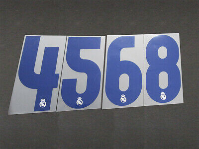 16 REAL MADRID DARK BLUE HOME ; NUMBER 4 = PLAYER SIZE 250mm 17
